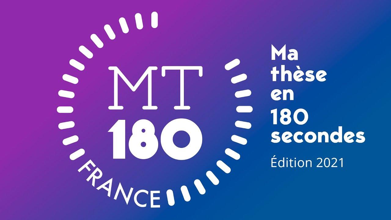 """portant le lien d'accès à la vidéo relative à la cérémonie """"Ma Thèse en 180 secondes"""""""